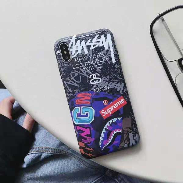 stussy iphone xsケース